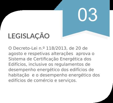 Certificação energética - Legislação